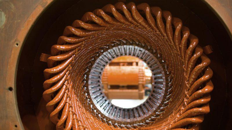 dettaglio impregnazione motori elettrici